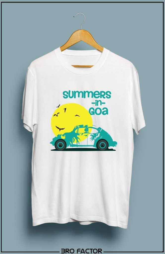 BroFactor Summers In Goa Graphic Printed T-Shirt