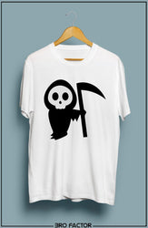 BroFactor Skull Axe Graphic Printed T-Shirt
