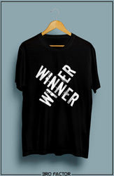 Bro Factor Winner Winner Graphic Printed T-Shirt