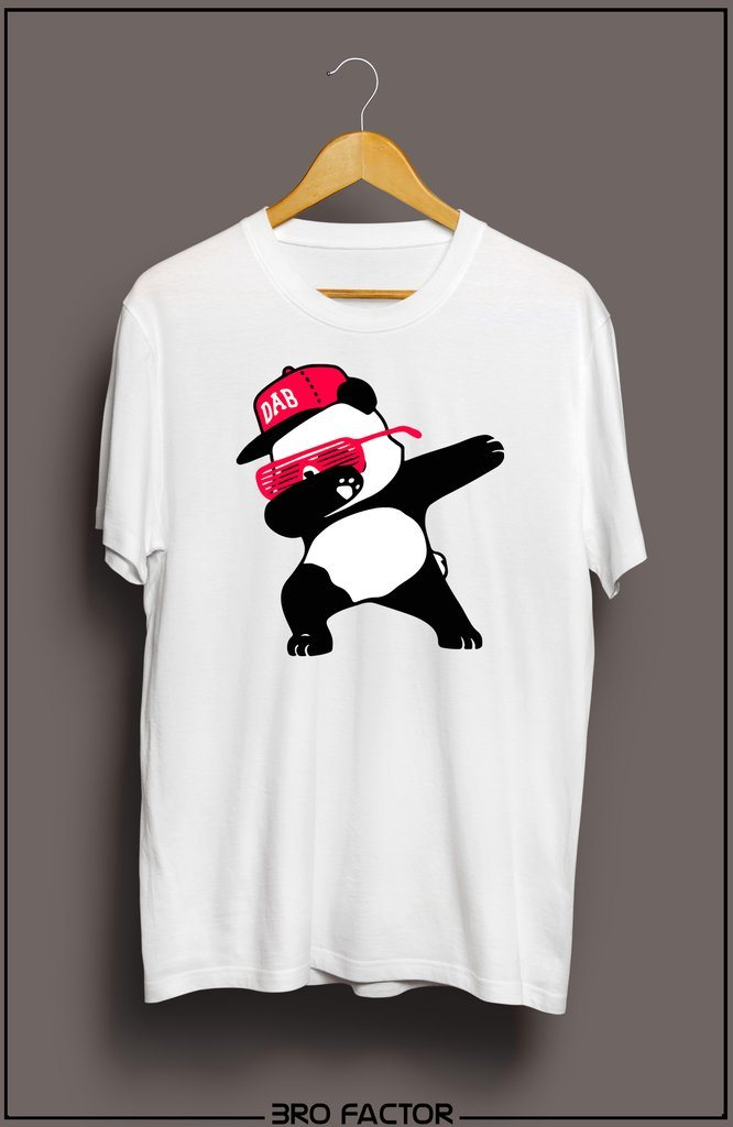 Bro Factor Colorful Panda Dab Graphic Printed T-Shirt