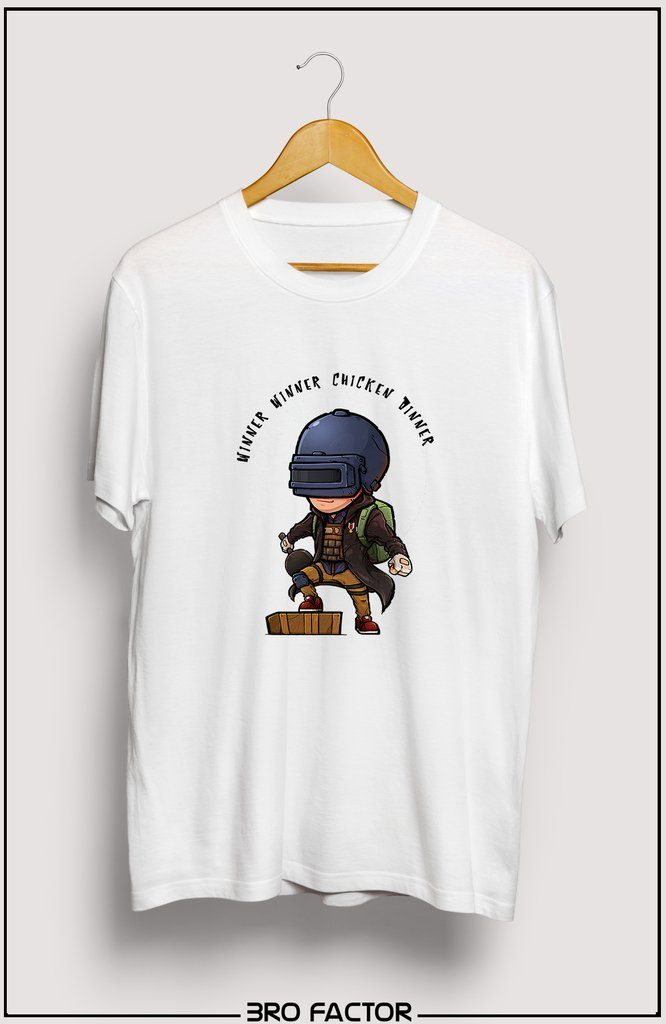 Bro Factor PUBG Animated Hero Graphic Printed T-Shirt