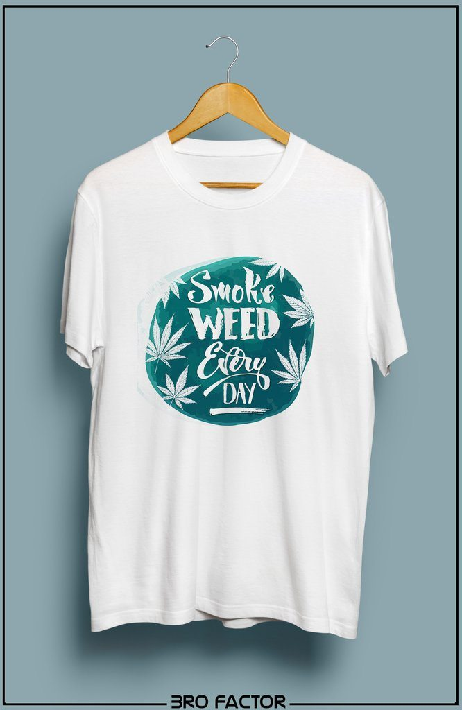 Bro Factor Smoke weed Everyday Graphic Printed T-Shirt