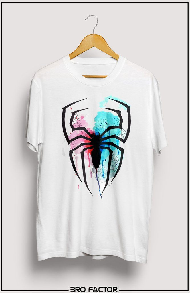BroFactor Spider Art Graphic Printed T-Shirt