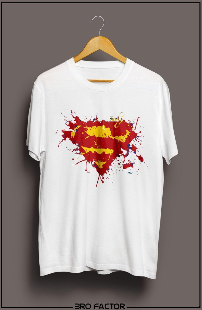 Bro Factor Superman Logo Graphic Printed T-Shirt