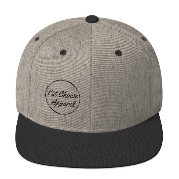 1'st Choice Apparel - Snapback - Heather/Black - Quality Materials - Hat - Cap