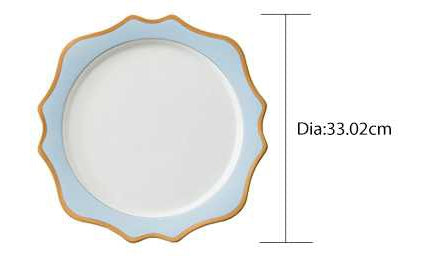 "Versailles Baby Blue 13"" Charger Plates 4pc"