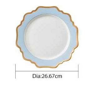 "Versailles Baby Blue 10.5"" Dinner Plates 4pc"