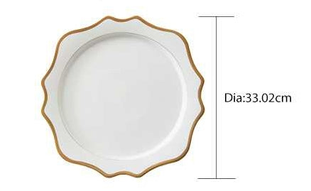 "Versailles White 13"" Charger Plates 4pc"