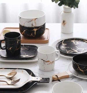 Kintsugi Breakfast Cup Black