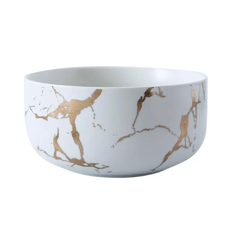Kintsugi Large Bowl White