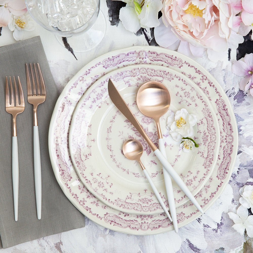 Dubai Rose Gold and white 16pc Cutlery Set