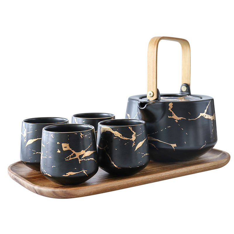 Kintsugi Teapot and Cups