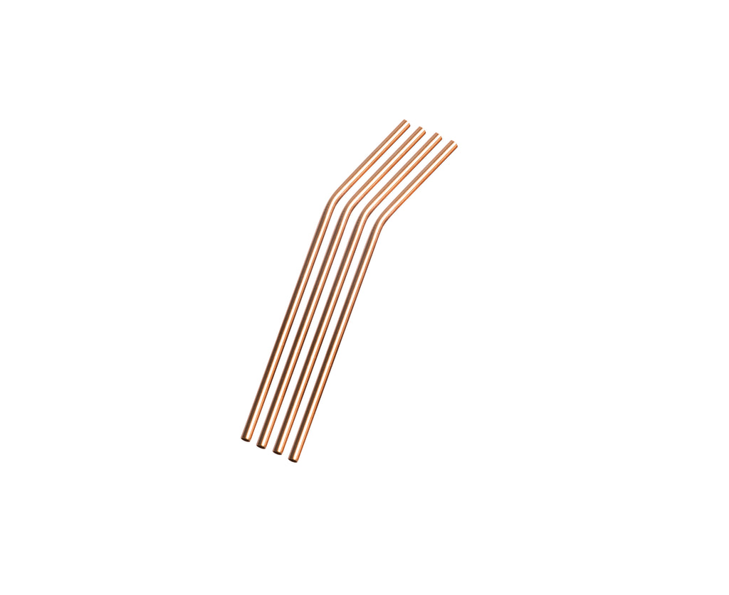 Staineless Steel Straws - Rose Gold
