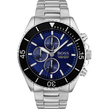 Hugo Boss Men's Ocean Edition Silver Blue Watch HB1513704