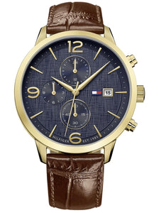 Tommy Hilfiger Men's Brown Leather Watch 1710359