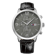 Tommy Hilfiger Men's Black Leather Watch 1770015
