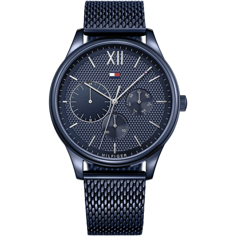 New Tommy Hilfiger Men's Damon Stainless Steel Blue Watch 1791421