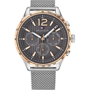 New Tommy Hilfiger Men's Gavin Chronograph Silver Watch 1791466