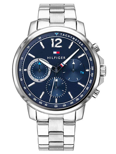 Tommy Hilfiger Men's Landon Stainless Steel Silver Blue Watch 1791534