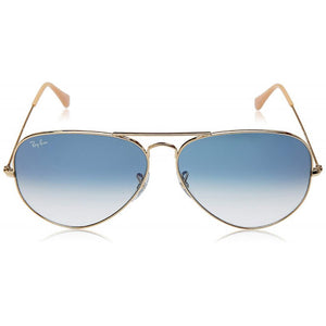 Brand New Ray-Ban Aviator Blue Lens Sunglasses RB3025 001/3F
