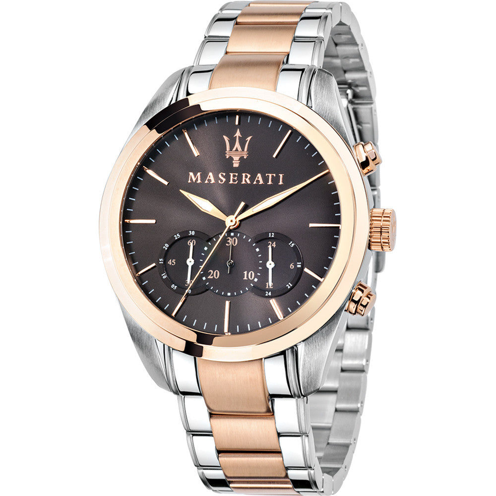 Maserati Men's Traguardo Two-Tone Silver Rose Stainless Steel Watch - 8873612003