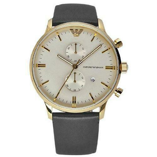 Emporio Armani Men's Gianni Leather Watch AR0386