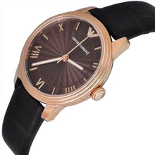 Emporio Armani Ladies Retro Brown Leather Watch AR1619