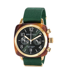 Briston Clubmaster Classic Acetate - Chronograph Tortoise Shell British Green