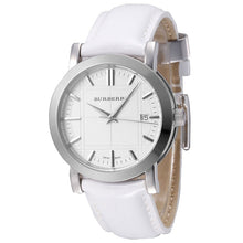 Burberry Swiss Made Authentic Unisex White Leather Watch BU1380