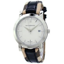 Burberry Ladies Classic Nova Check Leather Strap Heritage Swiss Watch BU1388