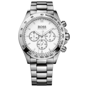 Hugo Boss Men's Silver Ikon Chronograph Stainless Steel Watch HB1512962