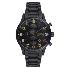 Hugo Boss Mens Aeroliner Black Chronograph Watch HB1513275