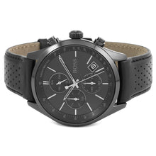 Men's Hugo Boss Black Leather Grand Prix Chronograph Watch HB1513474
