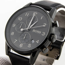 Hugo Boss Mens Black Leather Navigator Watch HB1513497