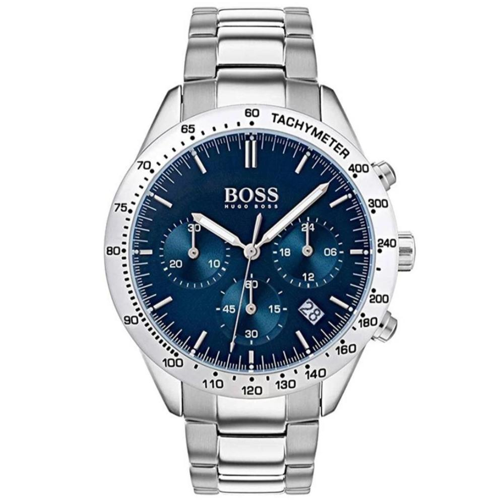 New Hugo Boss Men's Talent Stainless Steel Blue Dial Watch HB1513582