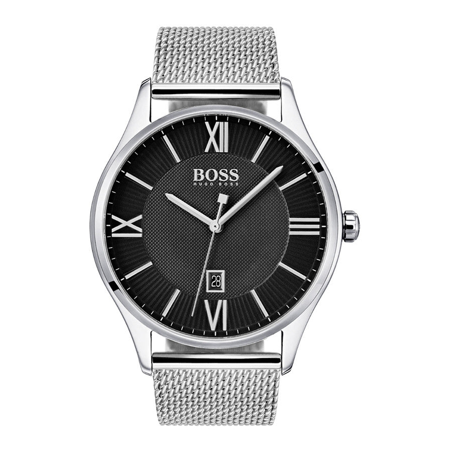 Hugo Boss Men's Governor Stainless Steel Mesh Watch HB1513601
