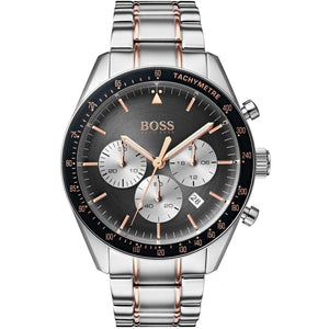 Men's Hugo Boss Trophy Silver/Black Chronograph Watch HB1513634