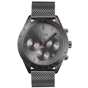 Hugo Boss Men's Gunmetal Mesh Strap Chronograph Watch HB1513637