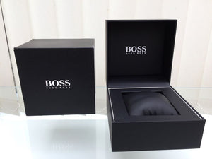 Men's Hugo Boss Grand Prix Black Stainless Steel Chronograph Watch HB1513578