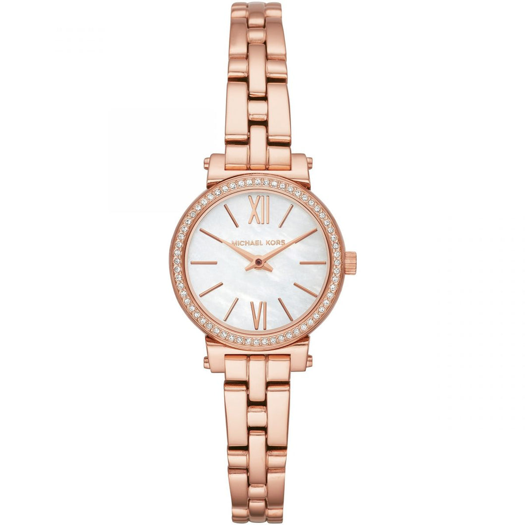 Michael Kors MK3834 Women's Petite Sofie Bracelet Watch - Rose Gold