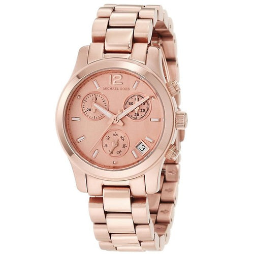 Ladies Michael Kors Runway Chronograph Rose Gold Watch MK5430