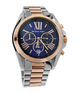 Michael Kors Two-Tone Bradshaw Navy Dial Watch MK5606