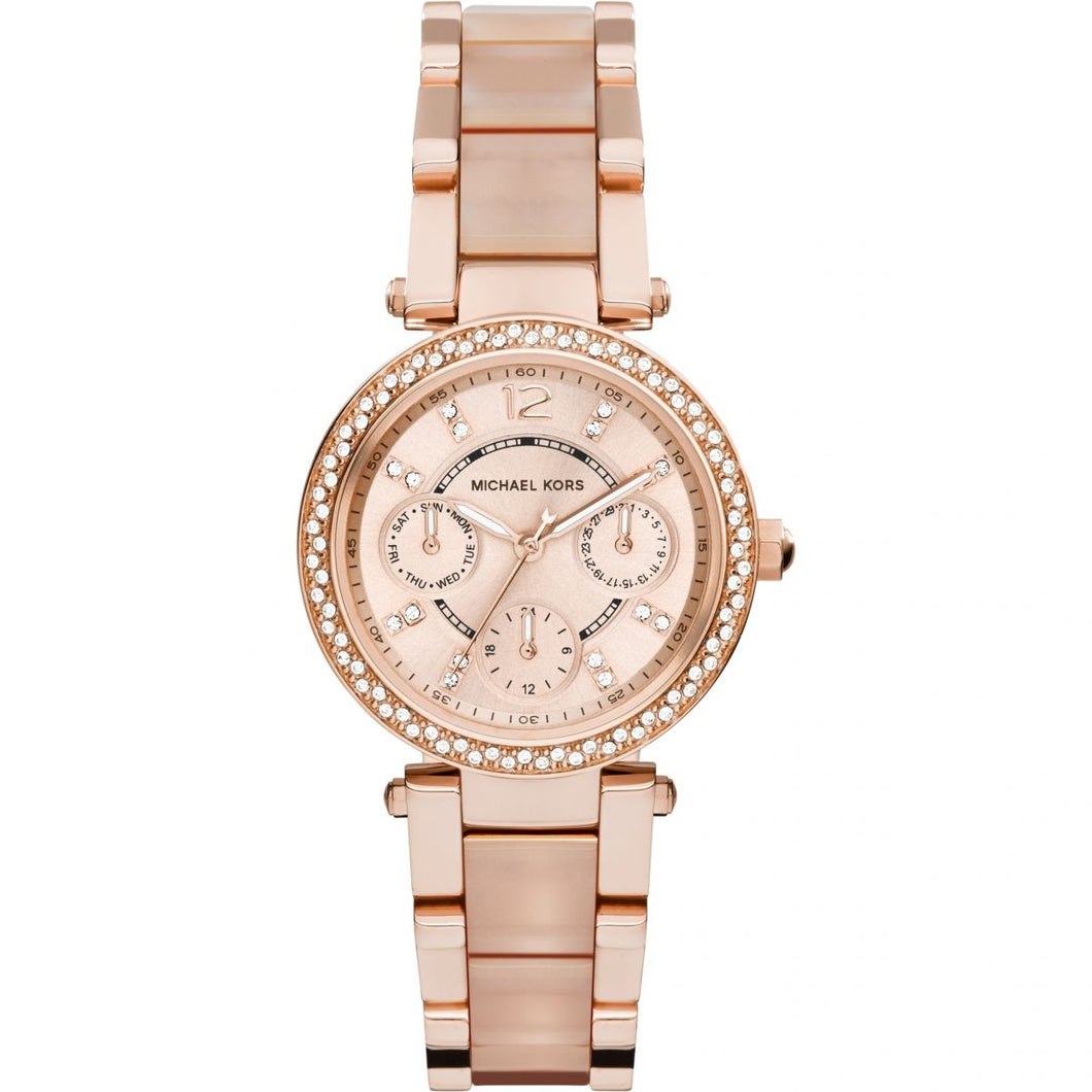 Ladies Michael Kors Parker Rose Watch - MK6110