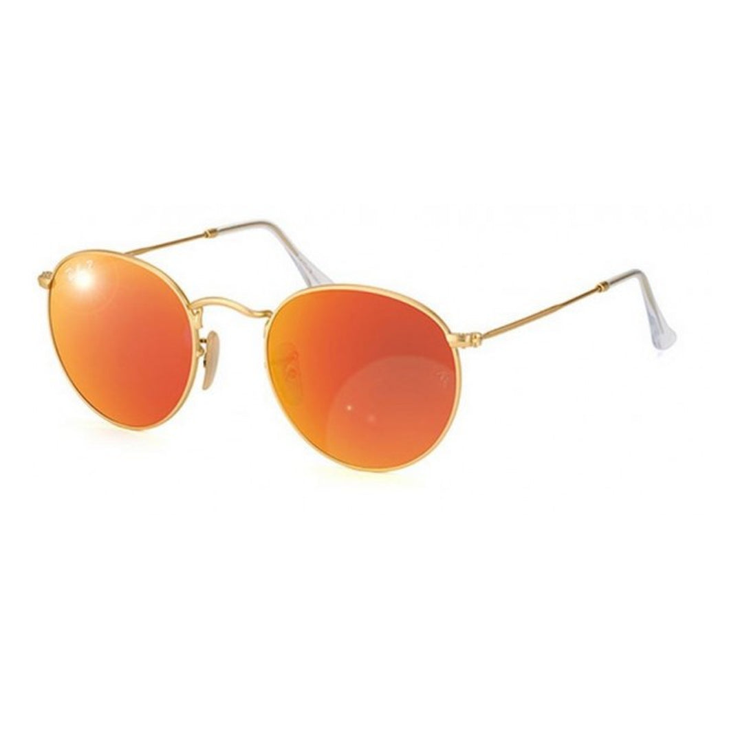 Ray-Ban Round Orange Flash Lenses RB3447 112/4D 50-21
