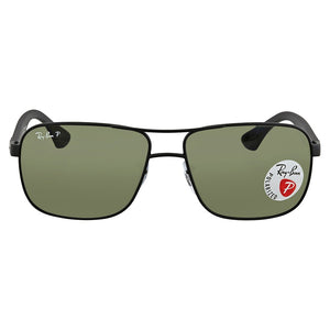 Ray-Ban Pilot Sunglasses Black/Green Classic RB3516 006/9A