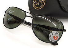 Ray-Ban Aviator Sunglasses Black / Green Polarized RB3519 006/9A