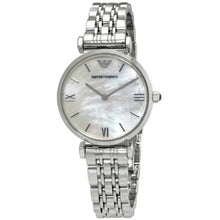 Emporio Armani Ladies Stainless Steel Silver Mother Of Pearl Watch - AR1682