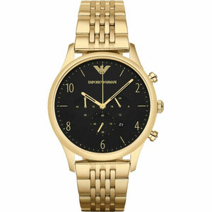Emporio Armani Mens Gold Chronograph Watch AR1893