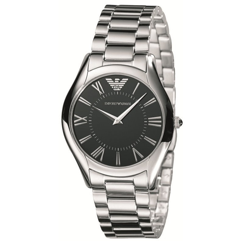 Emporio Armani Mens Silver Stainless Steel Watch AR2023