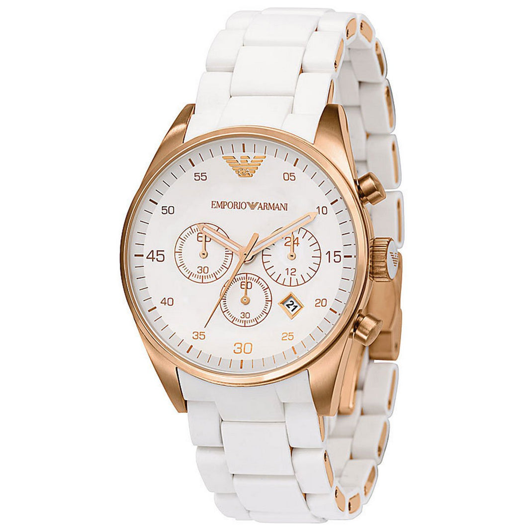 Ladies Emporio Armani Tazio Chronograph Watch AR5920